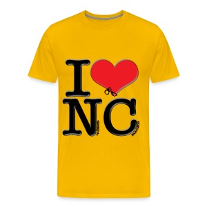 I Love NC - Naughty Chicks - Men's Premium T-Shirt