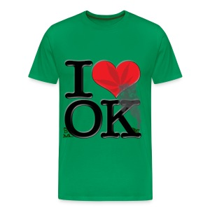 I Love OK - smOKe (leaf) - Men's Premium T-Shirt