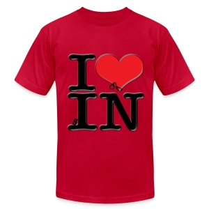 I Love IN - sIN (for light-colored apparel) - Men's Fine Jersey T-Shirt
