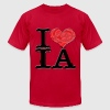 I Love IA - lesbIAns (for light-colored apparel) T-Shirts - Men's T-Shirt by American Apparel