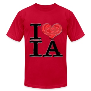 I Love IA - lesbIAns (for light-colored apparel) - Men's Fine Jersey T-Shirt