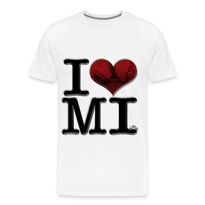 I Love MI - MI-lfs - Men's Premium T-Shirt