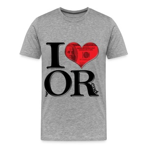 I Love OR - fORtune - Men's Premium T-Shirt