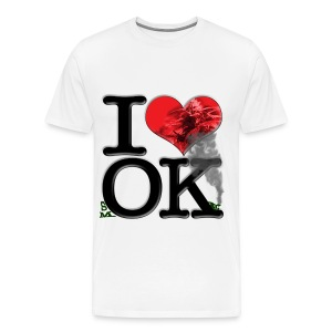 I Love OK - smOKe (plant) - Men's Premium T-Shirt