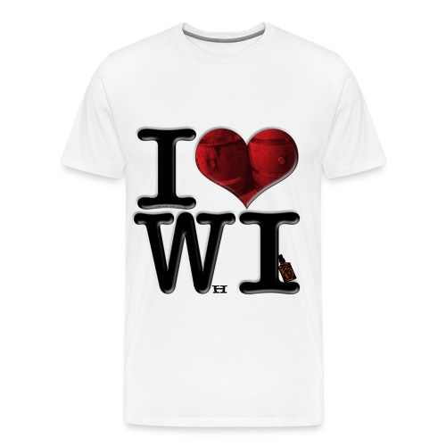 I Love WI - WhIskey - Men's Premium T-Shirt