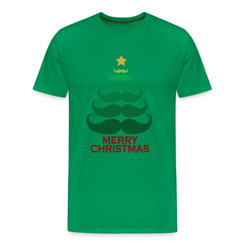 Moustache merry christmas tree t shirt spreadshirt Merry christmas t shirt design
