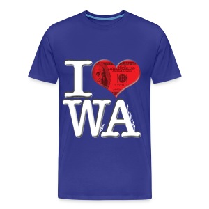 I Love WA - WeAlth - Men's Premium T-Shirt