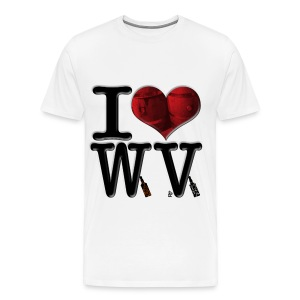 I Love WV - Whiskey & Vodka - Men's Premium T-Shirt