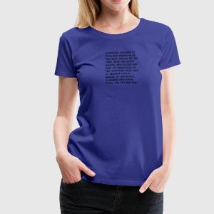 microfiction, vol. 1, no. 1 - Women's Premium T-Shirt