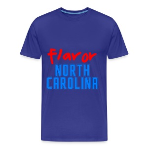 STATE YOUR FLAVOR: NORTH CAROLINA-TURQUOISE - Men's Premium T-Shirt