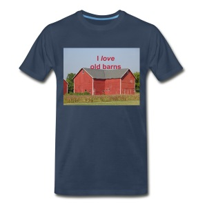 'I love old barns' Men's Plus sized - Men's Premium T-Shirt