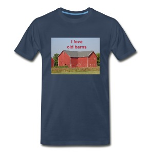 'I love old barns' Men's T - Men's Premium T-Shirt