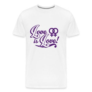 Love Is Love 2 Lesbian  - Men's Premium T-Shirt