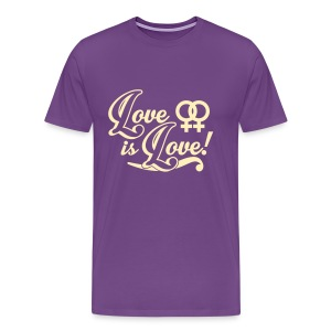 Love Is Love Lesbian - Men's Premium T-Shirt