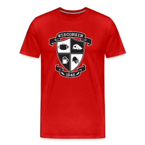 A Wisconsin Crest - Men's Premium T-Shirt