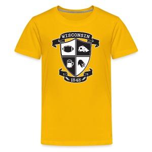 A Wisconsin Crest - Kids' Premium T-Shirt