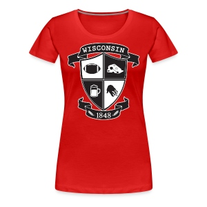 A Wisconsin Crest - Women's Premium T-Shirt