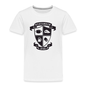 A Wisconsin Crest - Toddler Premium T-Shirt