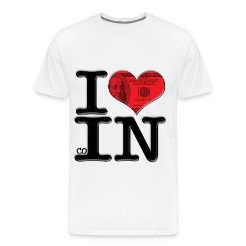 I Love coIN - Men's Premium T-Shirt
