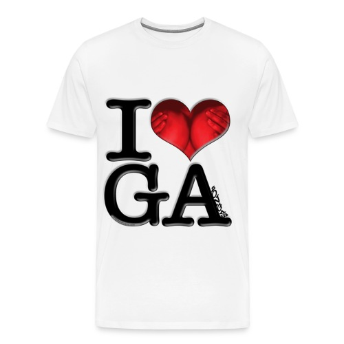 I Love GAzongas - Men's Premium T-Shirt