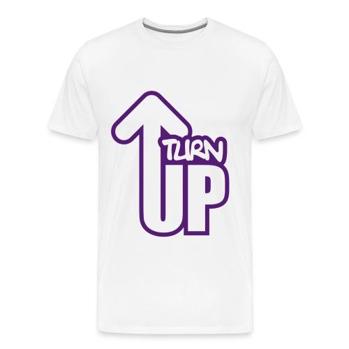 Turn up tee -white - Men's Premium T-Shirt