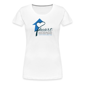 Women's HEART White Shirt - Women's Premium T-Shirt