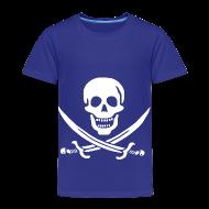 Baby & Toddler Shirts ~ Toddler Premium T-Shirt ~ Jolly Roger Pirate Toddler Tee - Skull and Crossbones Pirate Design Logo