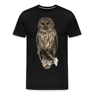 Mr_Owl_on Black - Men's Premium T-Shirt