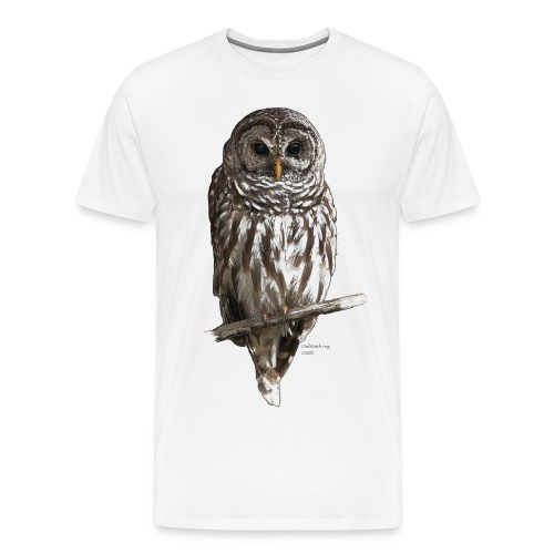 Mr_Owl_on natural - Men's Premium T-Shirt