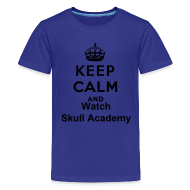 Kids' Shirts ~ Kids' Premium T-Shirt ~ Keep Calm & Watch Skull Academy