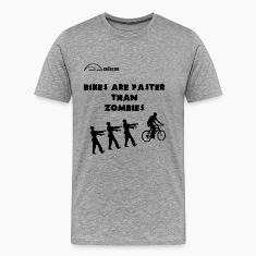 Cycling T Shirt - Bike's are Faster than Zombies