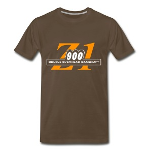 Z1 900 shirt Rootbeer & Orange - Men's Premium T-Shirt