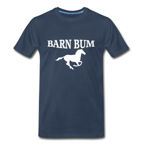 Barn Bum with horse  - Men's Premium T-Shirt