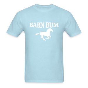Barn Bum with horse  - Men's T-Shirt