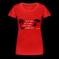 Women's T-Shirts ~ Women's Premium T-Shirt ~ Let It Snow