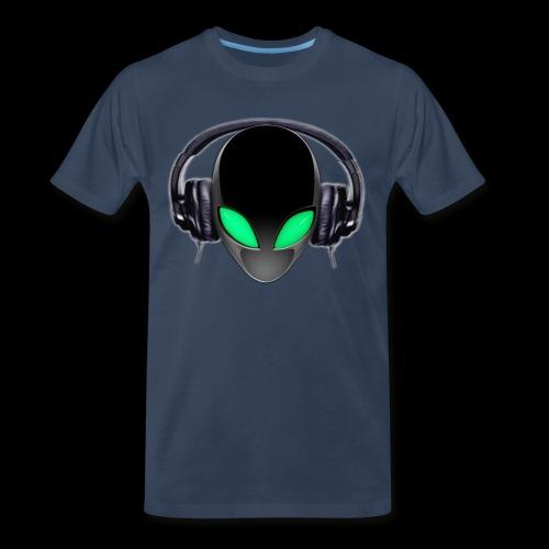 Alien Music Lover DJ - Men's Premium T-Shirt