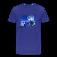 T-Shirts ~ Men's Premium T-Shirt ~ Manatees & The Moon