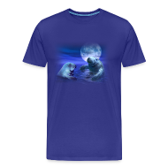 T-Shirts ~ Men's Premium T-Shirt ~ Manatees & The Moon