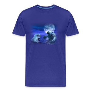 Manatees & The Moon - Men's Premium T-Shirt