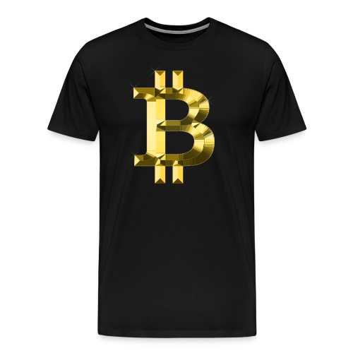 Bitcoin Gold Bling - Men's Premium T-Shirt