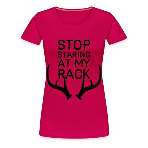 Womens Plus Stop Staring (PREMIUM) - Women's Premium T-Shirt