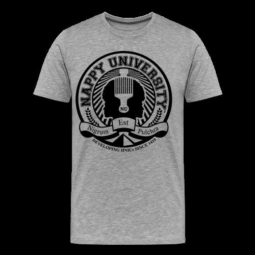 Nappy University w/Crest Men's 3XL & 4XL Shirt - Men's Premium T-Shirt