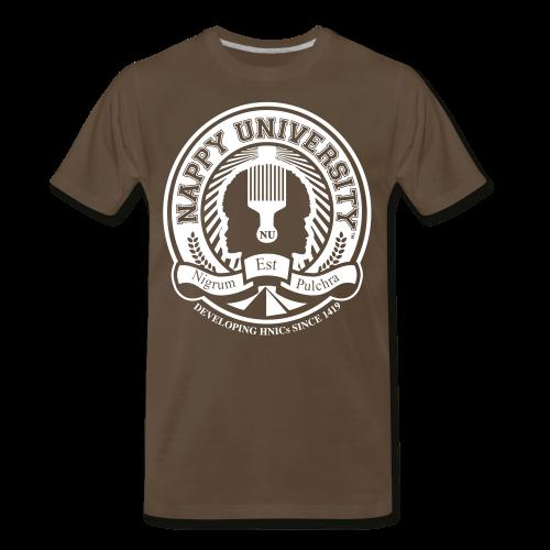 Nappy University w/Crest Men's 3XL & 4XL Shirt (rev) - Men's Premium T-Shirt