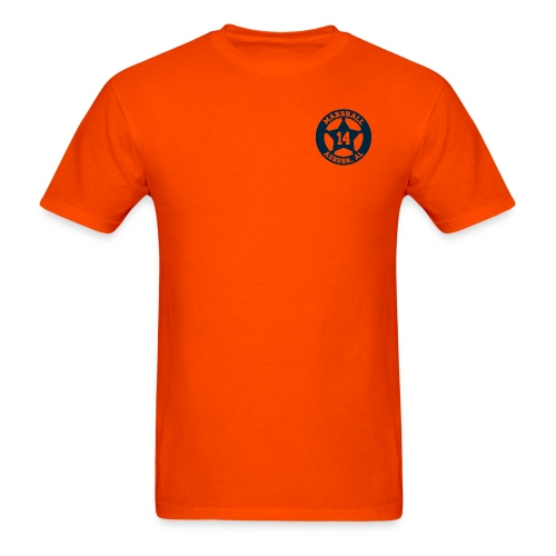 Marshall Badge - Short Sleeve - Orange - Men's T-Shirt