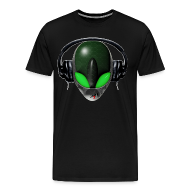 T-Shirts ~ Men's Premium T-Shirt ~ Reptile Green Alien DJ Music Lover - Friendly Style