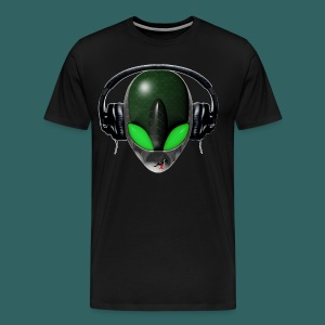Reptile Green Alien DJ Music Lover - Friendly Style - Men's Premium T-Shirt