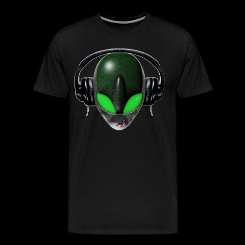 Reptoid Green Alien Face DJ Music Lover - Friendly