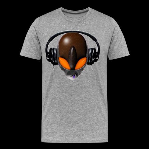 Reptile Orange Alien DJ Music Lover - Friendly Style - Men's Premium T-Shirt