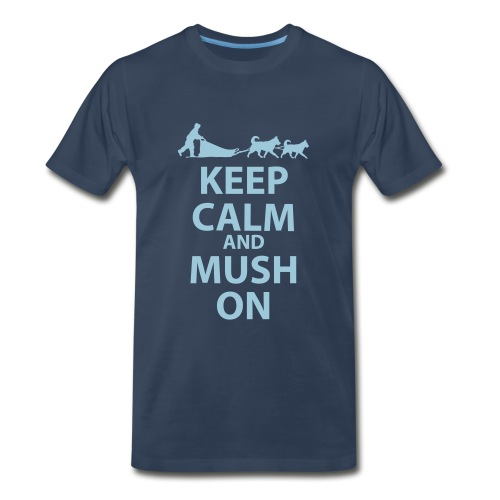 Keep Calm and MUSH on Men's XXL TShirt - Men's Premium T-Shirt