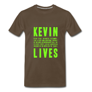 T-Shirts ~ Men's Premium T-Shirt ~ Kevin Lives (Design by Anna)